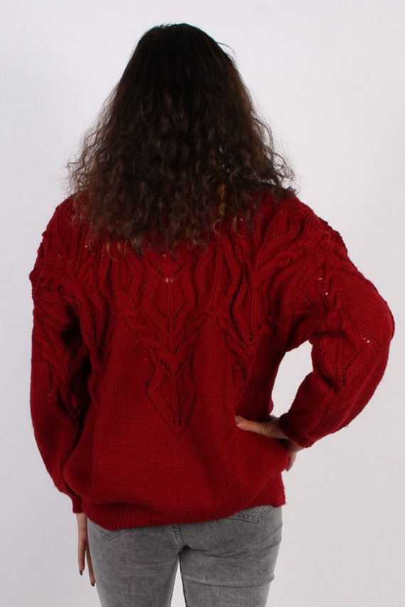 Vintage Winter Cool Knitted Jumper XL Red -IL1066-56808