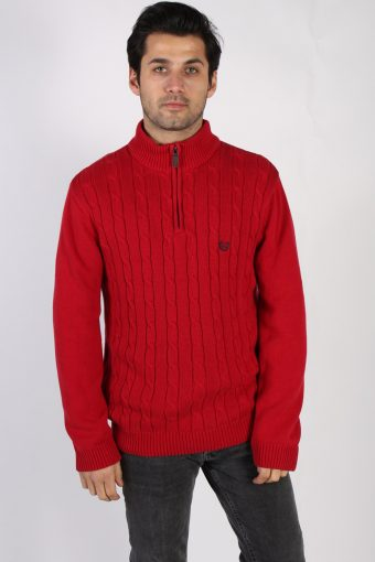 Chaps Cotton Jumper Pullover Red M