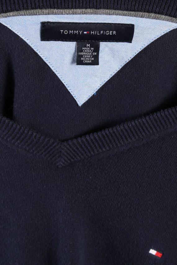 Vintage Tommy Hilfiger Cotton v Neck Jumper M Navy -IL1127-70830
