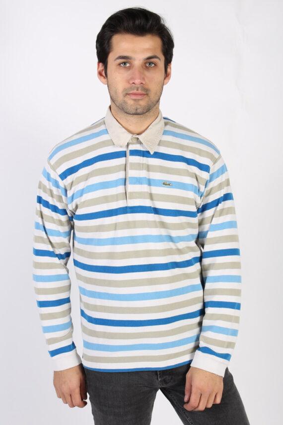 Vintage Lacoste Polo Neck Sweater L Multi -IL1186-0