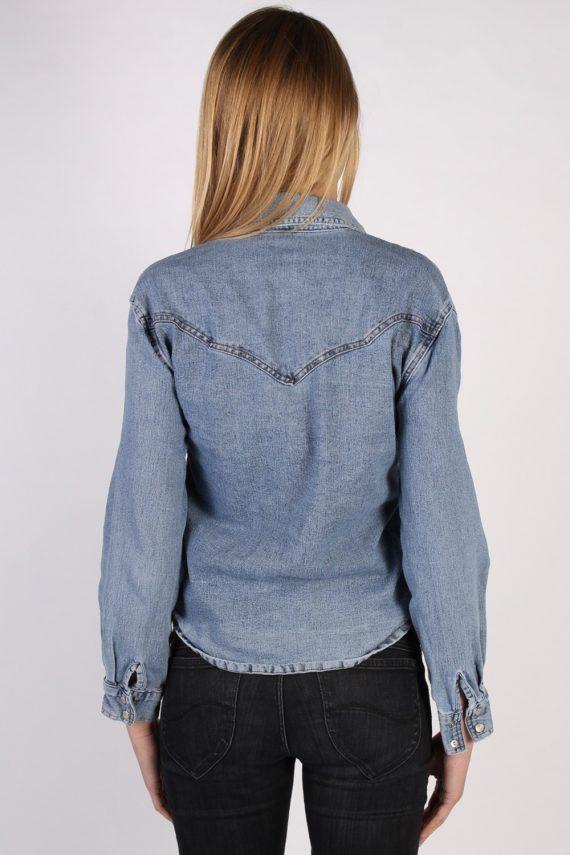 Vintage Princebright Long Sleeve Denim Blouse - Bust:40 Blue - SH3068-70330