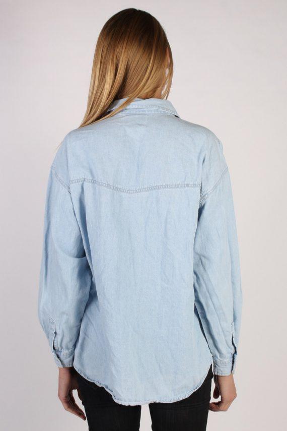 Vintage Arizona Long Sleeve Denim Blouse - Bust:45 Blue - SH3081-70395