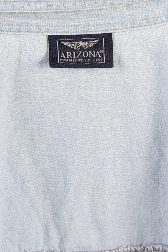 Vintage Arizona Long Sleeve Denim Blouse - Bust:45 Blue - SH3081-70396