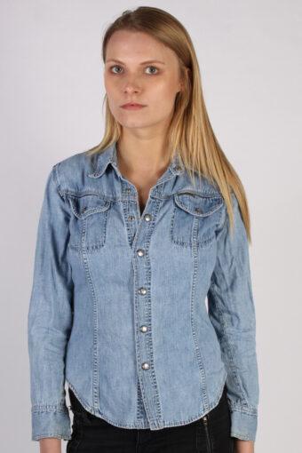 Calvin Klein Long Sleeve Denim Shirt Blue M