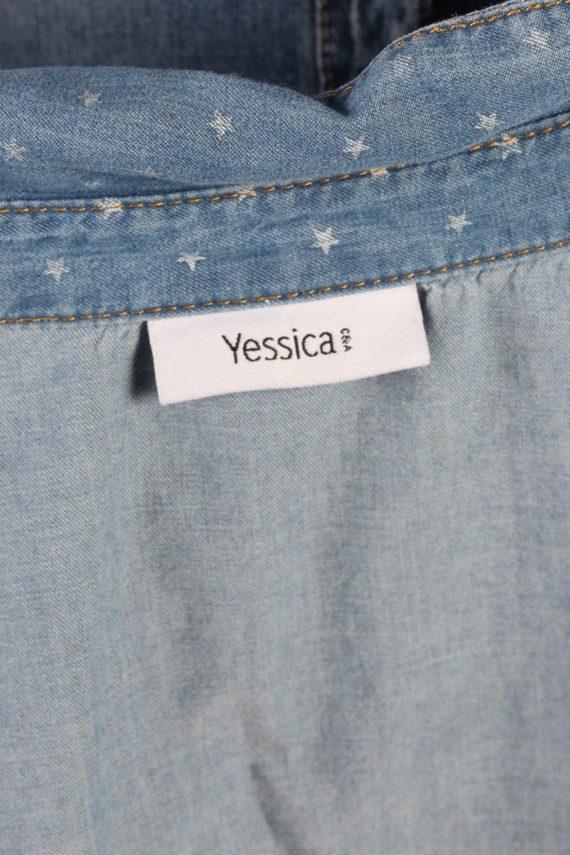 Vintage Yessica Stars Denim Blouse - Bust:36 Navy - SH3088-70431