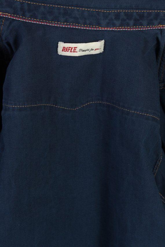 Vintage Rifle Long Sleeve Denim Blouse - Bust:34 Navy - SH3098-70481