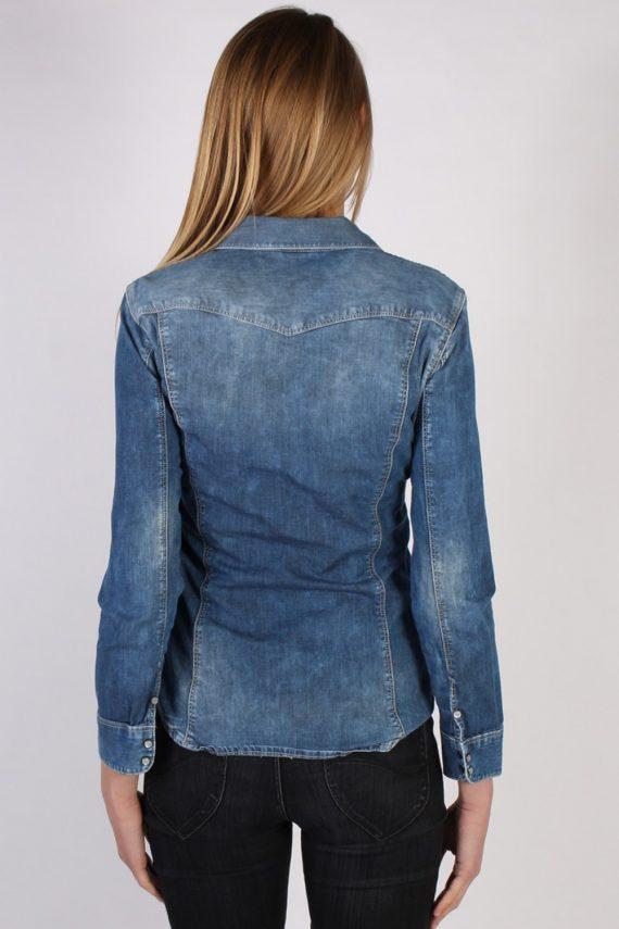 Vintage Other Brands Long Sleeve Denim Blouse - Bust:35 Navy - SH3100-70490