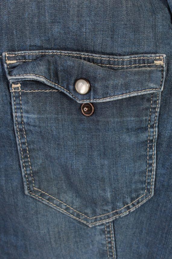 Vintage Other Brands Long Sleeve Denim Blouse - Bust:35 Navy - SH3100-70491