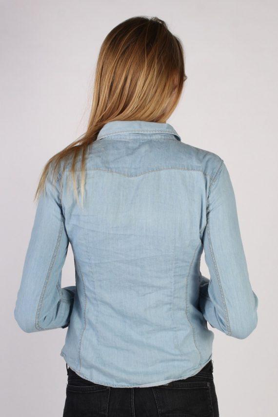 Vintage Benetton Jeans Long Sleeve Denim Blouse - Bust:36 Blue - SH3113-70554