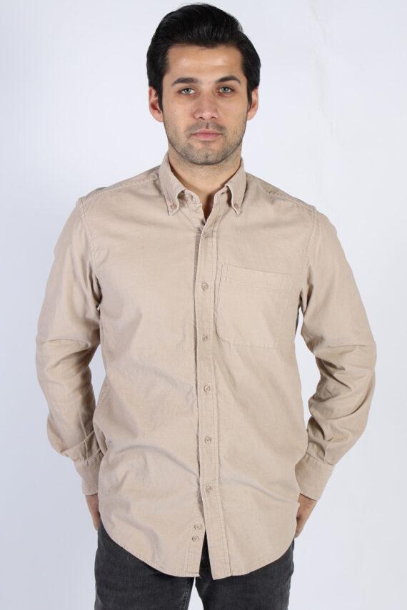 Vintage Ronley Soft Corduroy Shirt - M Beige - SH3130-0