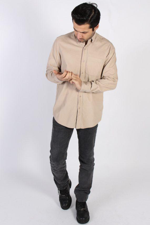 Vintage Ronley Soft Corduroy Shirt - M Beige - SH3130-71147