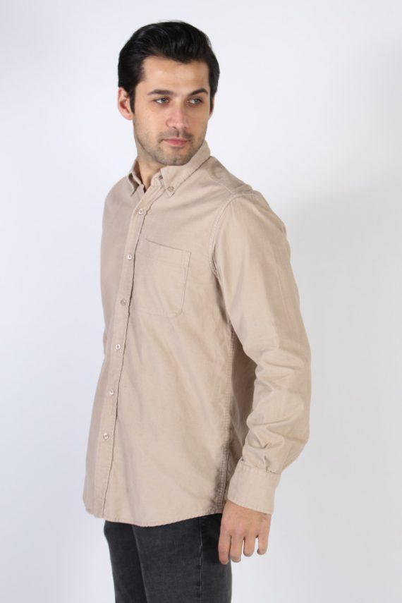 Vintage Ronley Soft Corduroy Shirt - M Beige - SH3130-71148