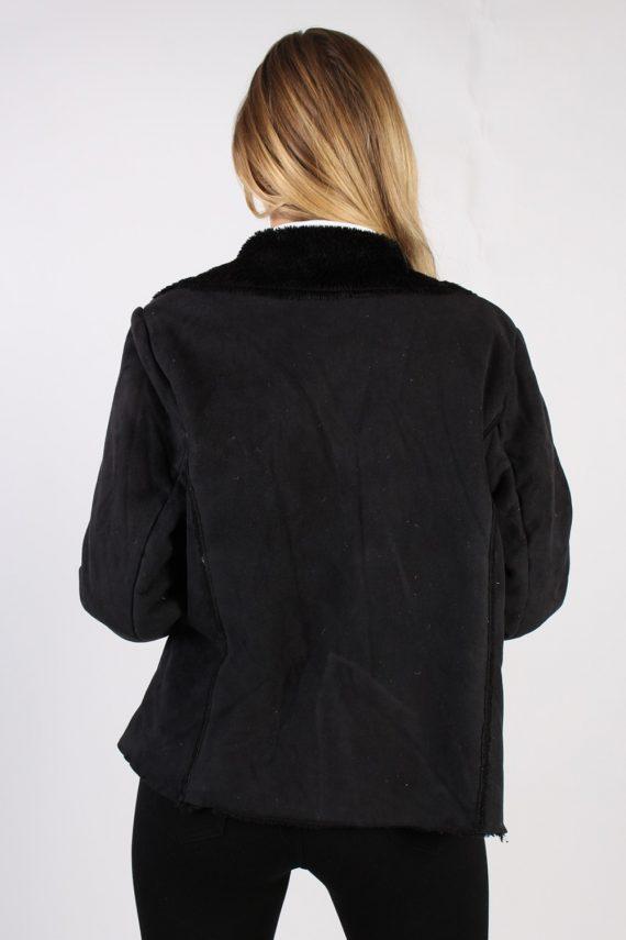 Vintage Kiabi Faux Leater Coat Bust 46 Black -C1001-72188
