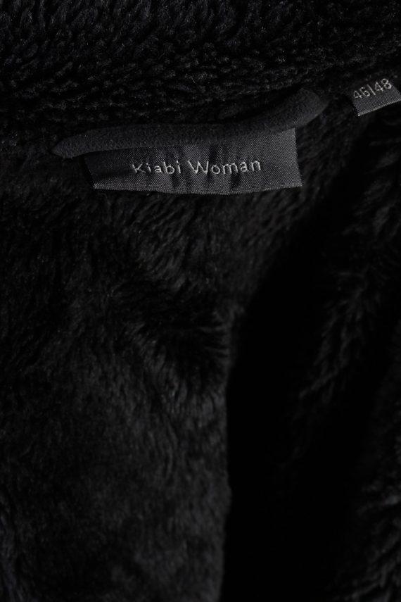 Vintage Kiabi Faux Leater Coat Bust 46 Black -C1001-72189