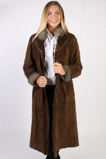 Vintage Stadick Design Sheepskin Coat  Bust 45 Brown