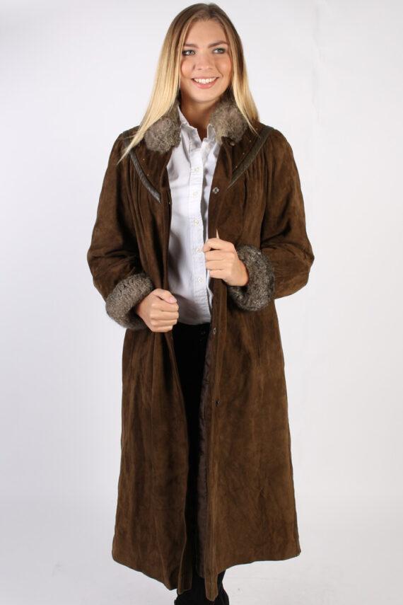 Vintage Stadick Design Sheepskin Coat Bust 45 Brown -C1007-0