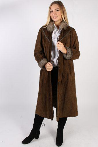 Vintage Stadick Design Sheepskin Coat Bust 45 Brown -C1007-72216
