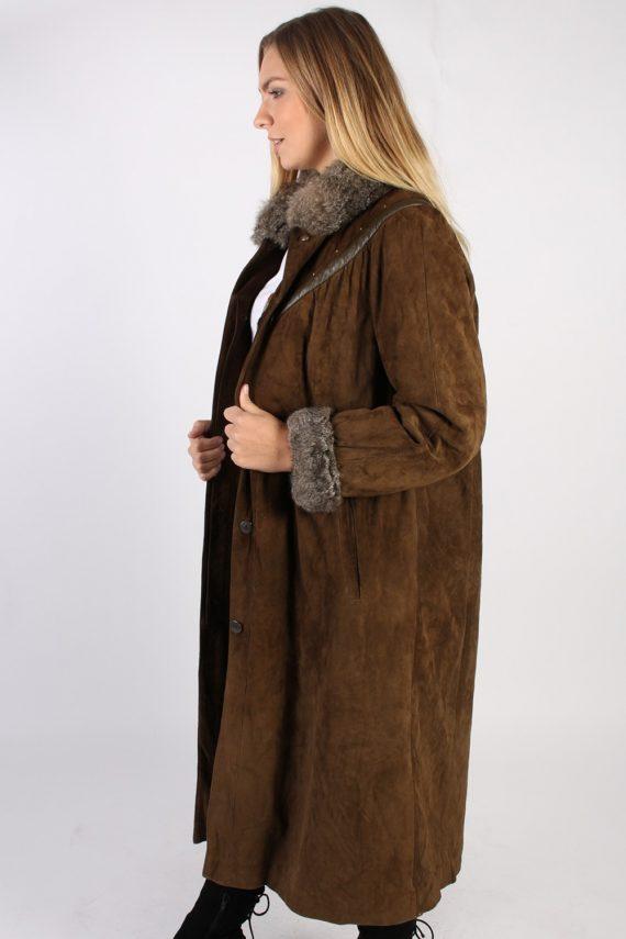 Vintage Stadick Design Sheepskin Coat Bust 45 Brown -C1007-72217