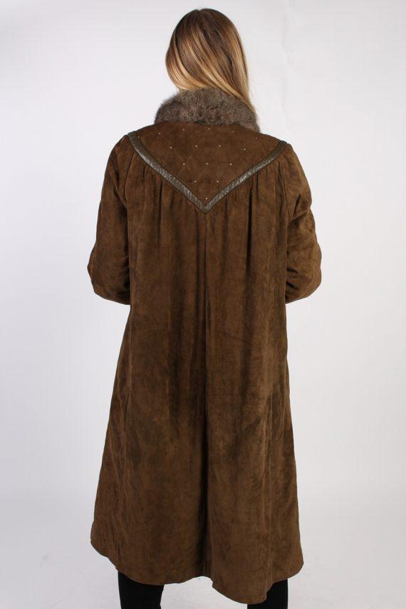 Vintage Stadick Design Sheepskin Coat Bust 45 Brown -C1007-72218
