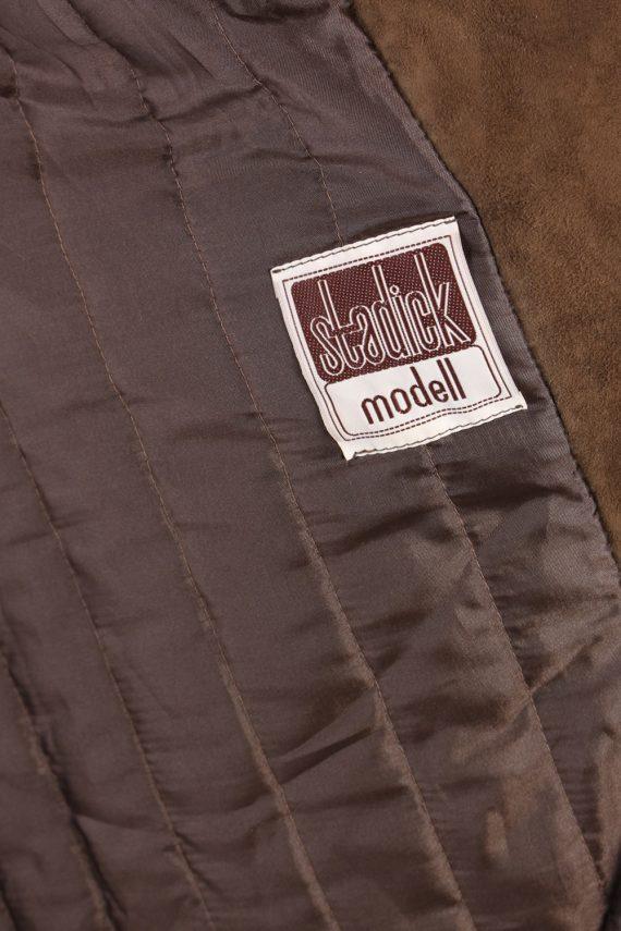 Vintage Stadick Design Sheepskin Coat Bust 45 Brown -C1007-72219