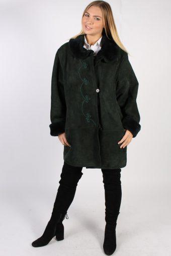 Vintage Ultsch Detailed Sheepskin Coat Bust 49 Brown -C1016-72251