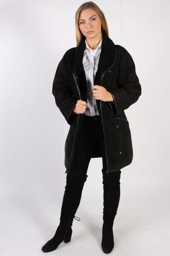 Vintage Real Design Lambskin Coat Bust 39 Brown -C1022-72281