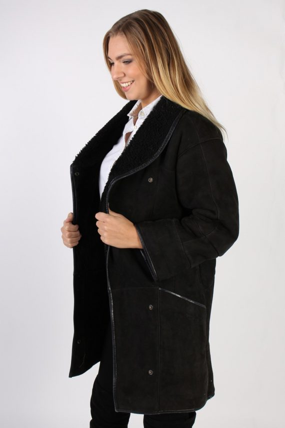 Vintage Real Design Lambskin Coat Bust 39 Brown -C1022-72282