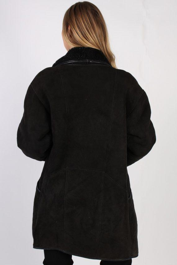 Vintage Real Design Lambskin Coat Bust 39 Brown -C1022-72283