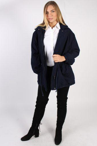Vintage Lacoste Devanlay Casual Coat Bust 48 Navy -C1032-72331