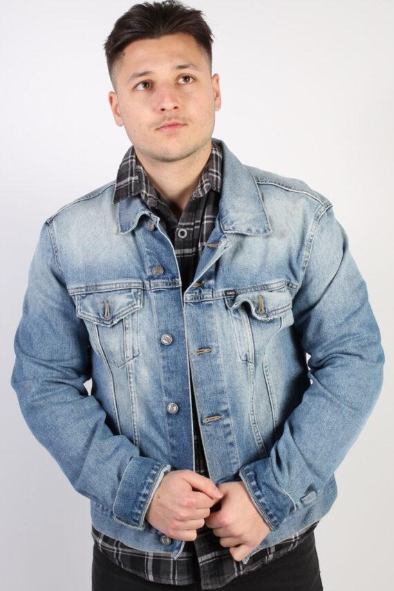 Vintage Gas Denim Jacket Coat - CHEST 40 Blue C1052-0