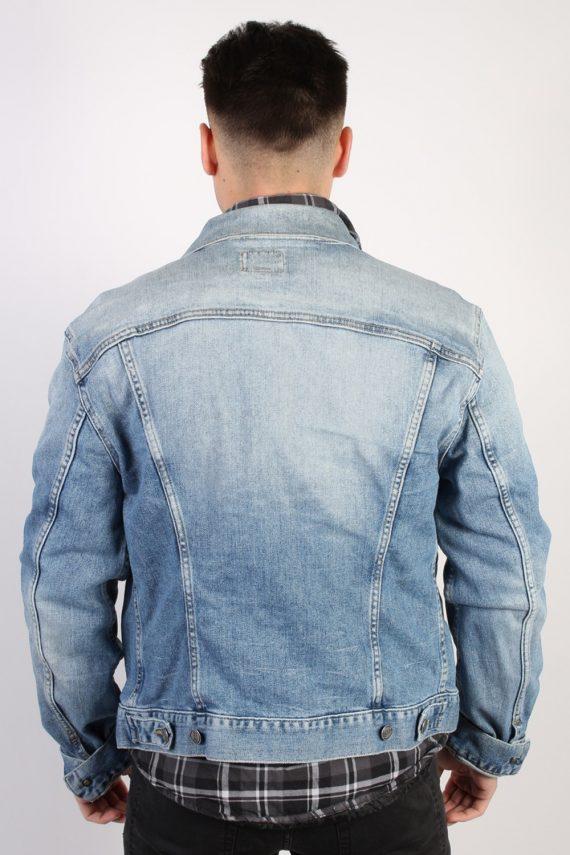 Vintage Gas Denim Jacket Coat - CHEST 40 Blue C1052-73614