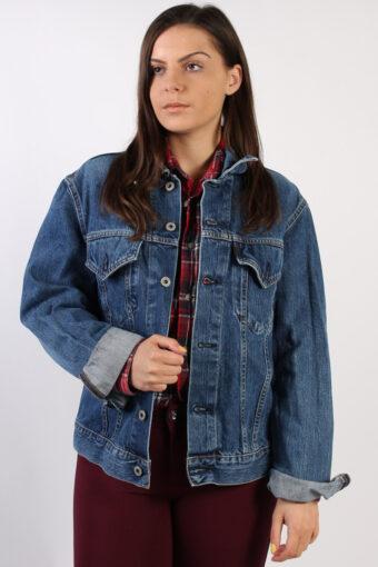 90s Retro Denim Jacket Dark Blue M