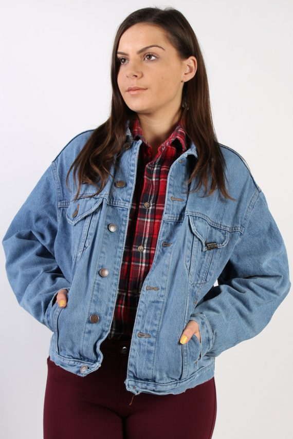 Vintage Replay Trucker Denim Jacket L Navy -DJ1420-0