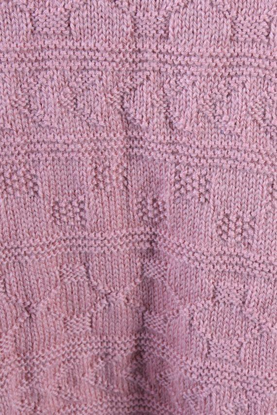 Vintage Retro Knit Round Neck Jumper XL Pink -IL1323-72474