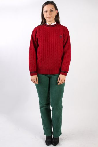 Vintage Rover Lakes Round Neck Jumper L Red -IL1326-72486