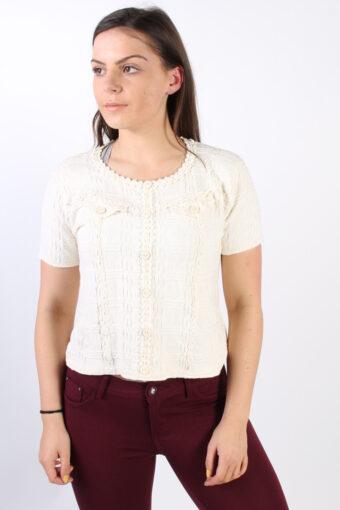 Women Geda Warm T Shirt Cream S