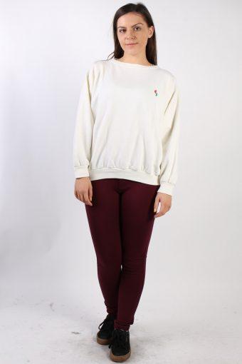Vintage Other Brands Round Neck Sweatshirt XL Cream -SW1720-72821