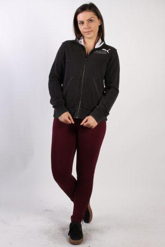 Vintage Puma Zip Pocket Sweatshirt M Black -SW1727-72856