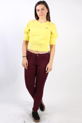 Lacoste Crew Neck Sweatshirt 80s Yellow S