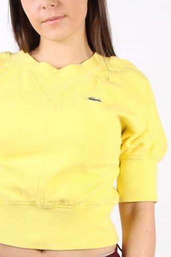 Vintage Lacoste Devanlay Ghetto Sweatshirt S Yellow -SW1733-72886