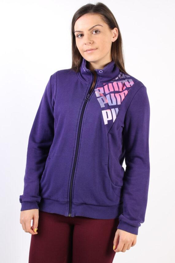 Vintage Puma Zip Logo Sweatshirt L Purple -SW1734-0