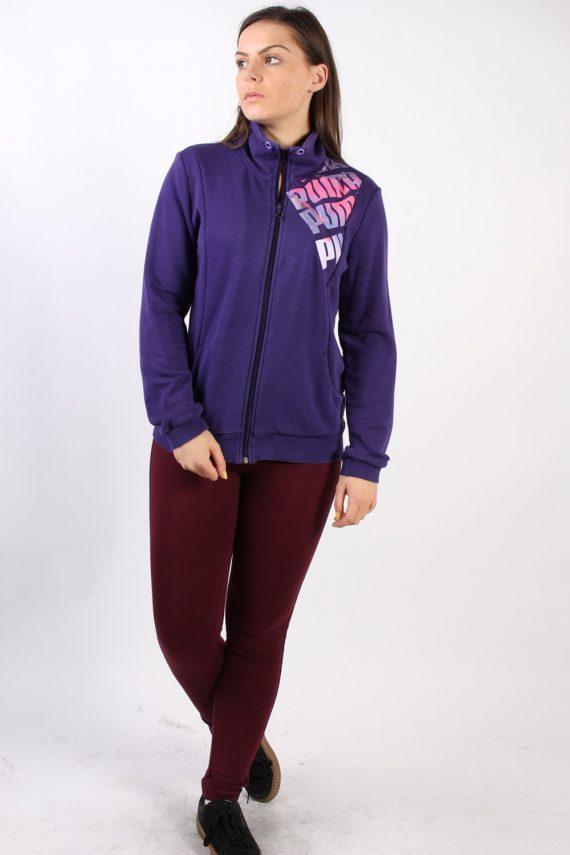 Vintage Puma Zip Logo Sweatshirt L Purple -SW1734-72891