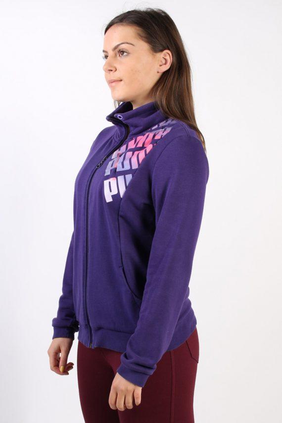 Vintage Puma Zip Logo Sweatshirt L Purple -SW1734-72892