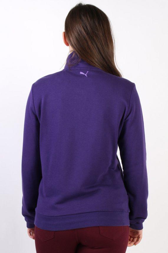 Vintage Puma Zip Logo Sweatshirt L Purple -SW1734-72893