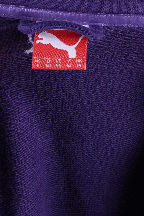 Vintage Puma Zip Logo Sweatshirt L Purple -SW1734-72894