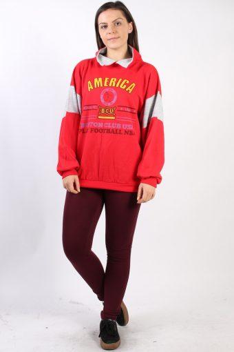 Vintage Other Brands America Boston Sweatshirt L Red -SW1750-72971