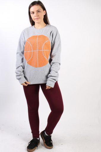 Vintage Nothing But Net Basketball Lover Sweatshirt M Grey -SW1752-72981