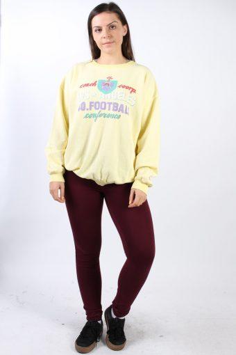 Vintage Country Wear Round Neck Sweatshirt L Yellow -SW1756-73000