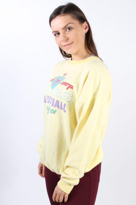 Vintage Country Wear Round Neck Sweatshirt L Yellow -SW1756-73001