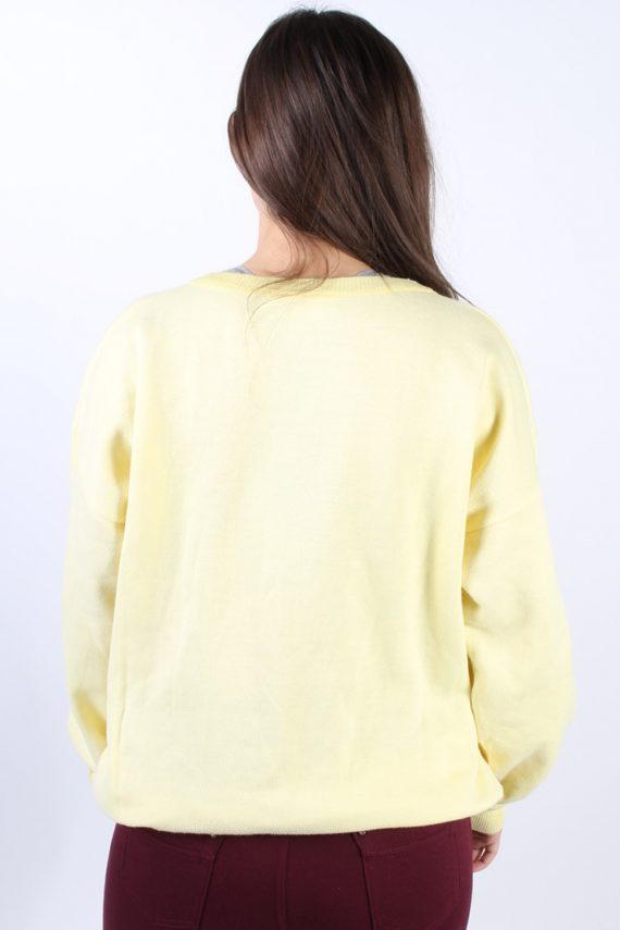 Vintage Country Wear Round Neck Sweatshirt L Yellow -SW1756-73002